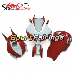 Fiberglass Racing Fairing Kit Fit For Honda CBR600RR F5 2007 - 2008 - White Red