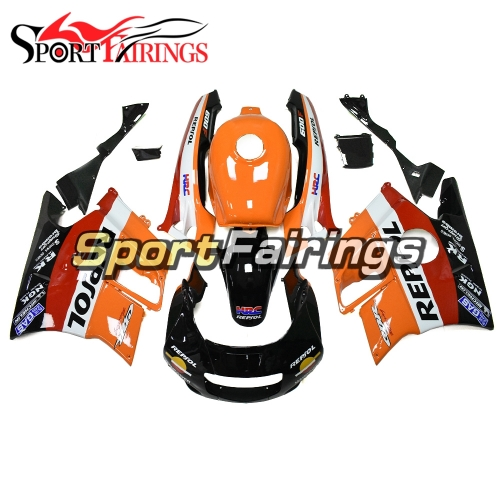 Fairing Kit Fit For Honda CBR600 F2 1991 - 1994 - Orange Red Black Repsol