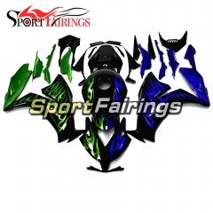 Fairing Kit Fit For Honda CBR1000RR 2012 - 2015 - Black and Green Blue Flame