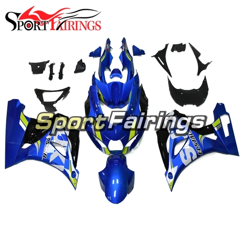 Blue Yellow Strips Motorcycle Fairing Kit Fit For Suzuki GSXR1000 2017 2018 2019 New Arrival Cowlings