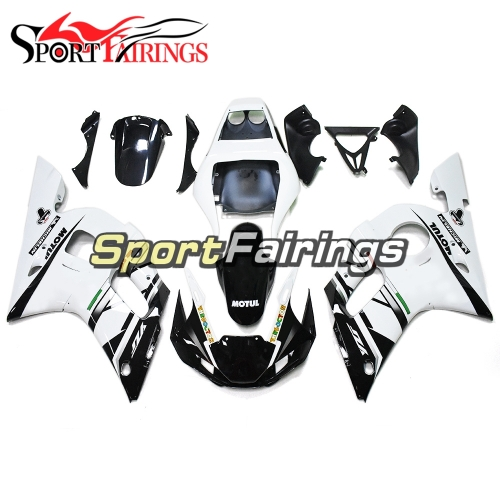 Fairing Kit Fit For Yamaha YZF R6 1998 - 2002 - Black White