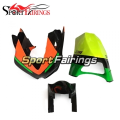 Firberglass Fairing Kit Fit For Aprilia RSV4 1000 2010 - 2015 - Orange Black Fluorescent Yellow
