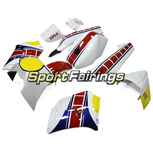 Racing Fairing Kit Fit For Yamaha RZV500 1985 - White Yellow Blue