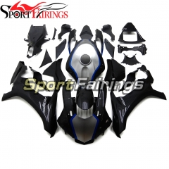 Fairing Kit Fit For Yamaha YZF R1 2015 2016 2017 2018 - Carbon Fiber Effect Blue Silver and Black