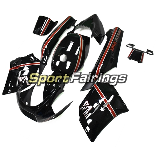 Fairing Kit Fit For Yamaha RZV500 1985 - Black with Red Stripes