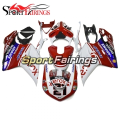 New Complete Fairing Kit Fit For Ducati 1098 1198 848 2007 - 2012 - Red White Black 21
