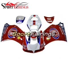 Hot Complete Fairing Kit Fit For Ducati 996/748/916/998 Monoposto 1996 - 2002 - Gloss Red Blue White