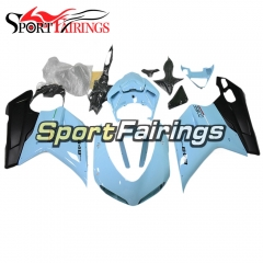 New Full Fairing Kit Fit For Ducati 1098 1198 848 2007 - 2012  Sky Blue With Black Lowers