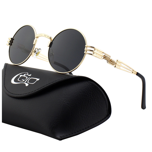 CGID Retro industrial style Mirrored Polarized Steampunk Sunglasses