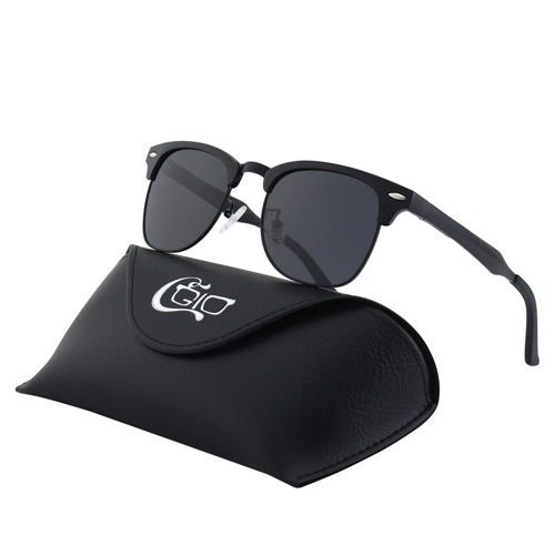 CGID Classic Al-Mg Alloy Mirrored Polarized Semi-Rimless Sunglasses