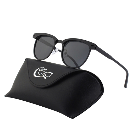 CGID Club Master Classic Layered frame Mirrored Polarized Semi-Rimless Sunglasses