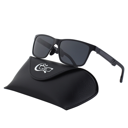 CGID Men's Sunglasses Aviation Al-Mg Alloy Square Polarized Sunglasses