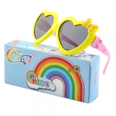 CGID Soft Rubber Kids Cute Heart Polarized UV400 Sunglasses