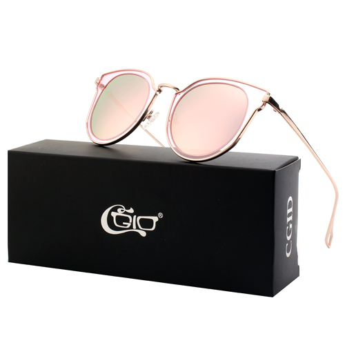 CGID Double Lens Carved Mirrored Polarized Oversized Sunglasses
