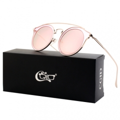 CGID Double Circles Mirrored Polarized  Cateye Oversized Sunglasses