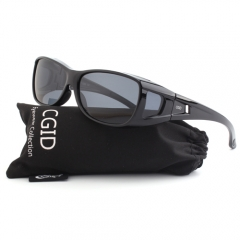 CGID Wear Over Prescription Rx Glasses Wrap Around Polarized Sunglasses Covers