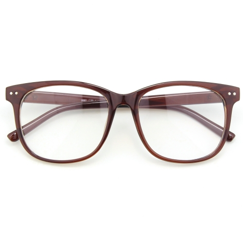 CGID Oversized Bold Frame Clear Glasses With Metal Decoration