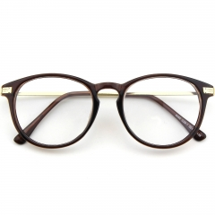 CGID  Vintage Inspired Classic  Oversized Round Clear Glasses
