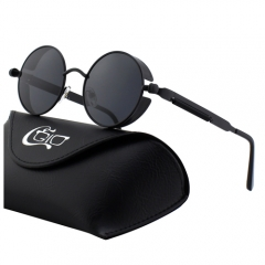 CGID Retro Mirrored Polarized Steampunk Sunglasses