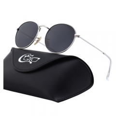 CGID Multiple Colored Round Lennon Metal Polarized Sunglasses