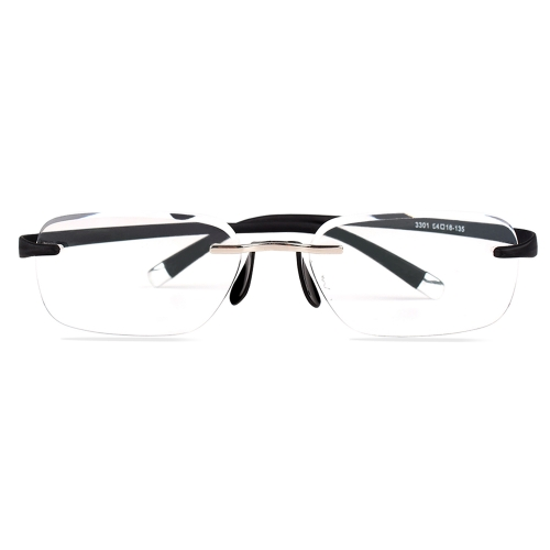 CGID New Fashion Rimless  Reading Glasses, Computer Readers with TR90 Frame for Men and Women