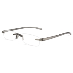 CGID New Fashion Rimless  Reading Glasses With TR90 Frame, Computer Readers  for Men and Women