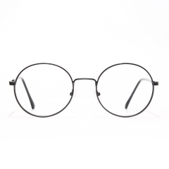 CGID Blue Light Blocking Computer Glasses, Anti Glare Eye Fatigue with Retro Round Circle Metal Frame