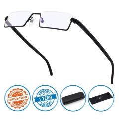 CGID Half Rim Anti-Blue light Readers, Computer Reading Glasses with TR90 Frame for Men and Women