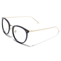 CGID Fashion Blue Light Blocking Computer Glasses,Anti Glare Eye Fatigue with TR90 Frame and Metal Arm,Transparent Lens