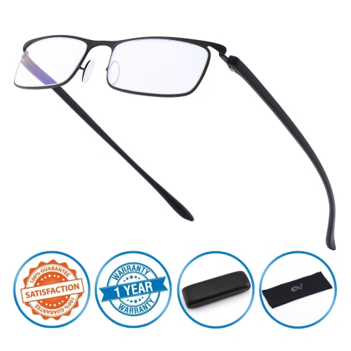 CGID Full frame Anti-Blue-Ray Reading Glasses, Computer Readers with TR90 Frame for Men and Women
