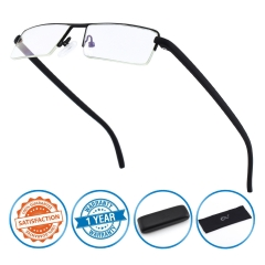 CGID UV400 Half Rim Anti-Blue light Readers, Computer Reading Glasses with TR90 Frame for Men and Women