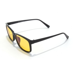 CGID  Blue Light Blocking Glasses, Anti Glare Fatigue Blocking Headaches Eye Strain, Safety Glasses for Computer/Phone Yellow Lens