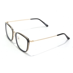 CGID 2019 New Style Fashion Blue Light Blocking Glasses Anti Glare Fatigue Safety Computer Glasses with Premium TR90 Brown Metal Frame