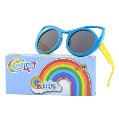CGID Rubber Flexible Kids Cateye Polarized Sunglasses for Boys Girls Baby and Children Age 3-10