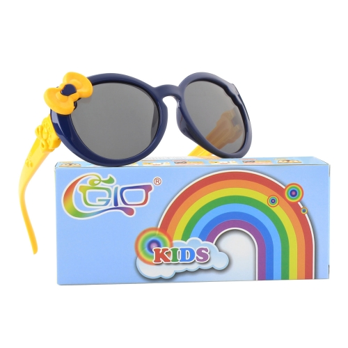 CGID Cute Rubber Flexible Kids Polarized Sunglasses for Boys Girls Baby and Children Age 3-10