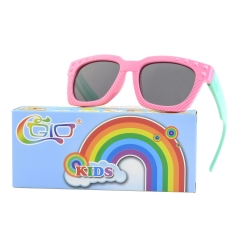 9f48d1d993fc CGID Rubber Flexible Kids Rectangle Polarized Sunglasses for Boys Girls  Baby and Children Age 3-10