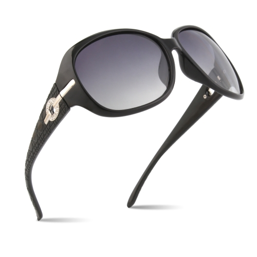 CGID New Arrival Oversized Polarized Sunglasses for Women Shades with Rhinestone