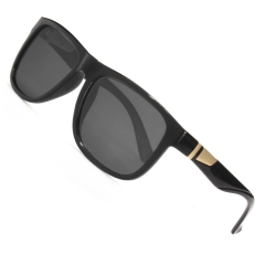 CGID New Arrival Square Polarized Sunglasses Temple With Irregular Metal Decoration