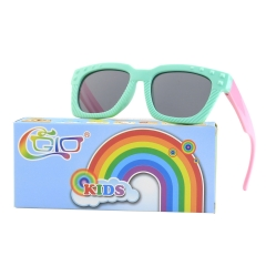 CGID Rubber Flexible Kids Rectangle Polarized Sunglasses for Boys Girls Baby and Children Age 3-10
