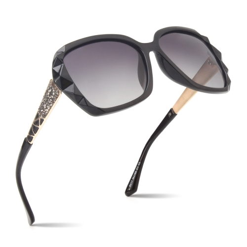CGID New Arrival Classic Polarized Sunglasses for Women With Shades Diamond Cut Frame