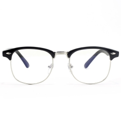 CGID Classic Retro Horn Rimmed Blue Light Blocking Glasses ,Transparent Lens