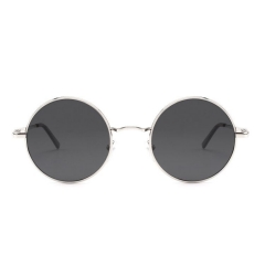 CGID Retro Lennon Inspired Round Metal Polarized Sunglasses