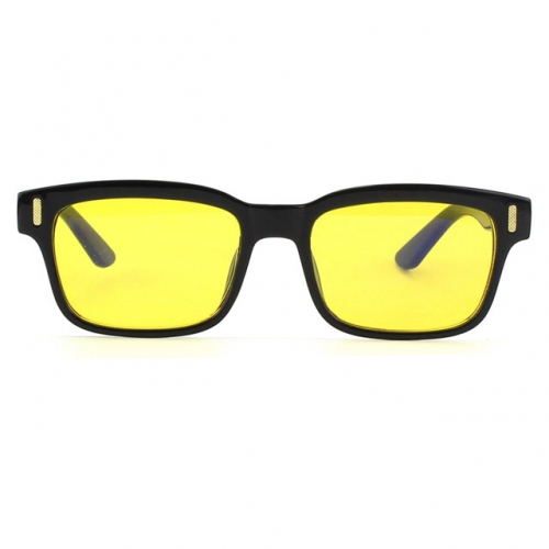 CGID Square Vintage Blue Light Blocking Glasses,Yellow Lens
