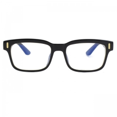 CGID Square Vintage Anti Blue Light Eye Strain and UV Light Glasses,Transparent Lens