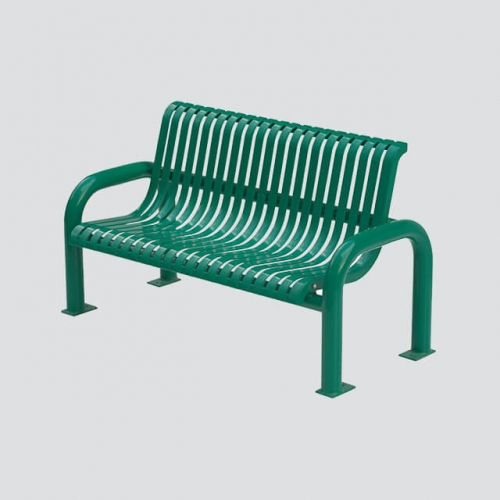 steel park modern outdoor bench