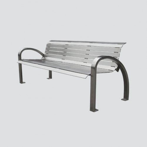 park steel outdoor patio bench