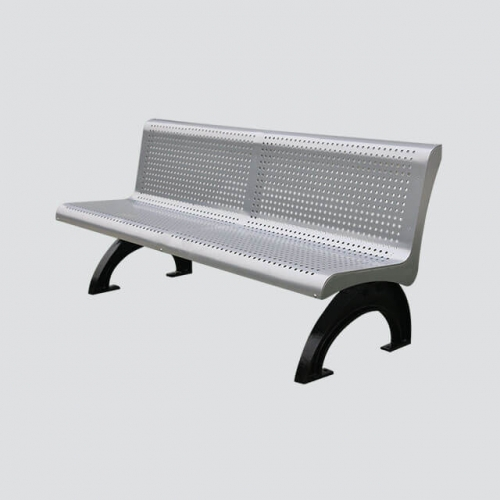 steel park long decorative bench