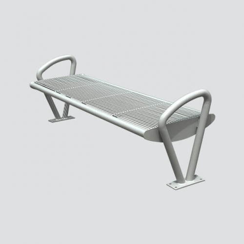 stainless steel park lawn bench