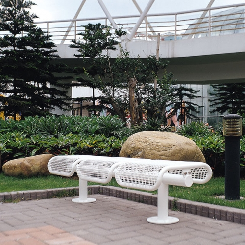 white garden outdoor leisure bench