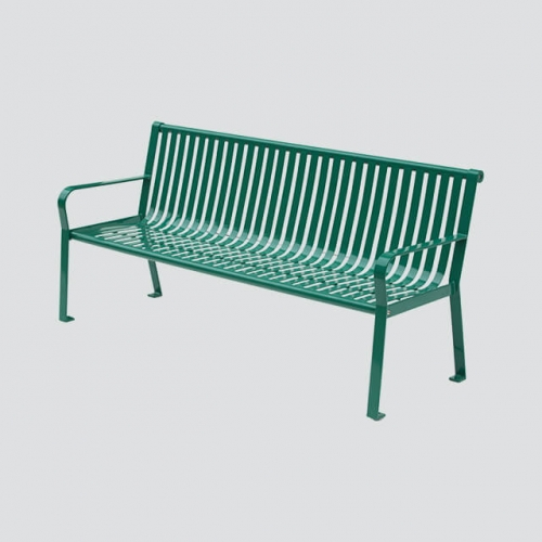 cheap green metal public seat bench